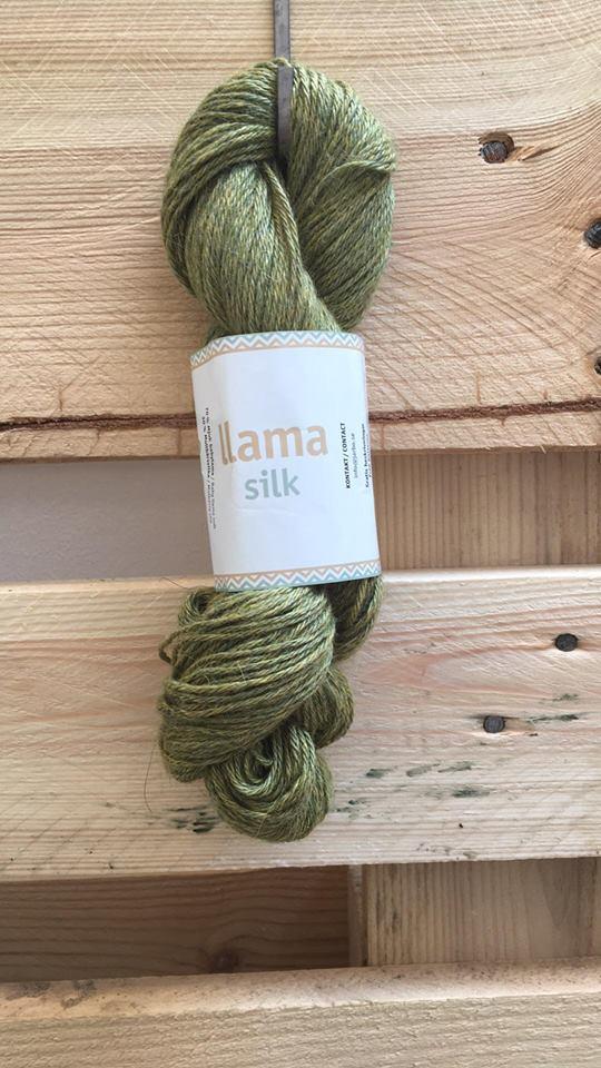 c30d05ee12d Järbo llama silk Grøn 12218 - Garn
